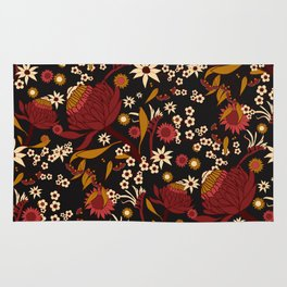 Australian Natives Red Blossom Rug