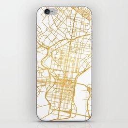 PHILADELPHIA PENNSYLVANIA CITY STREET MAP ART iPhone Skin