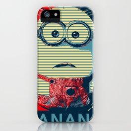 Minion banana iPhone Case