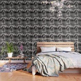 Inhabited Head Grayscale Wallpaper