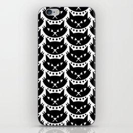 Mid Century Modern Cat Black & White iPhone Skin