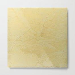 Tuscan Sun Stucco - Faux Finishes - Yellow Venetian Plaster Metal Print