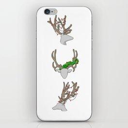 Christmas Reindeer Wreath iPhone Skin