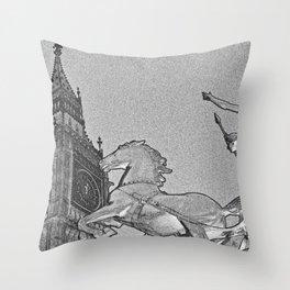 Big Ben And Boadicea Throw Pillow