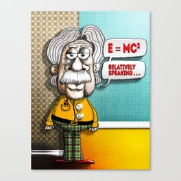 Relatively Einstein Canvas Print