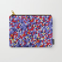 Knitted multicolor pattern 2 Carry-All Pouch