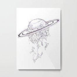 Geometric Saturn Metal Print