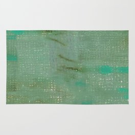 Mint green turquoise paths Rug