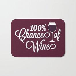 100% Chance of Wine Bath Mat