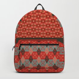Bohemian Kilim Pattern Mosaic Backpack