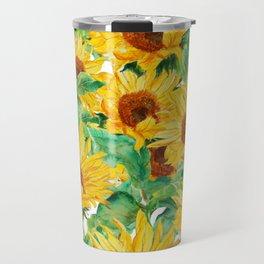 sunflower pattern Travel Mug