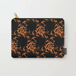 Manipulation 2 - Orange on Black Carry-All Pouch