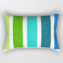 Aqua & Green Geometric Pattern Rectangular Pillow