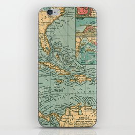 Vintage Map of The Caribbean (1906) iPhone Skin