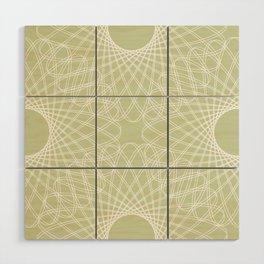 mathematical rotating roses - powder green Wood Wall Art