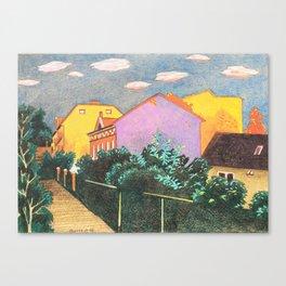 Summer Sunset In Berlin Canvas Print