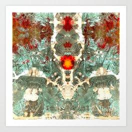 Modern Fractal Abstract 24: Organisms (n) Art Print