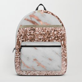 Warm chromatic - rose gold marble Backpack