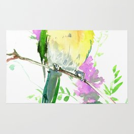 Lovebird and Flower Rug