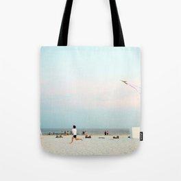 Running Beach Tote Bag