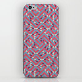 Geometric Labyrinth Red And Blue iPhone Skin
