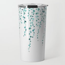 String of pearls in watercolor teal Travel Mug