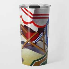 Vintage Spain Beach Travel Poster Travel Mug