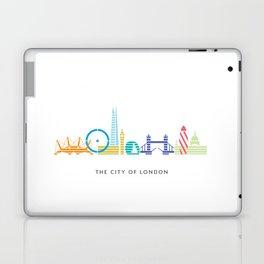 London Skyline White Laptop & iPad Skin
