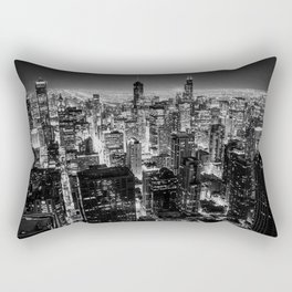 Nighttime Chicago Skyline Rectangular Pillow