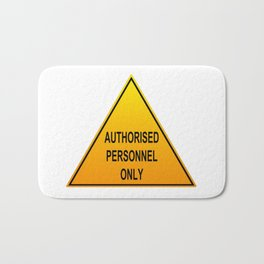 Authorised Personnel Only with English spelling Bath Mat