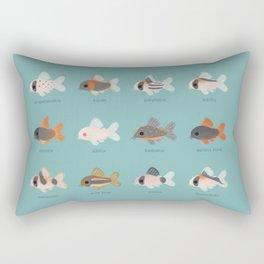 Corydoras! Rectangular Pillow