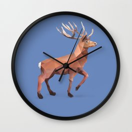 Reindeer.  Wall Clock