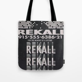 Rekall ( Total Recall ) Vintage magazine commercial. Tote Bag