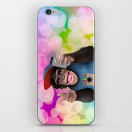 Selfie monkey iPhone Skin