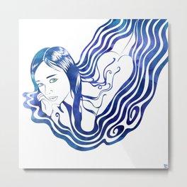 Water Nymph IX Metal Print