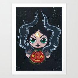 Witches Pumpkin  Art Print