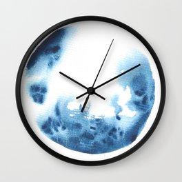 Blue Blob May 26 Wall Clock