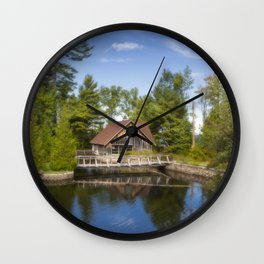 Michigan Cottage Wall Clock