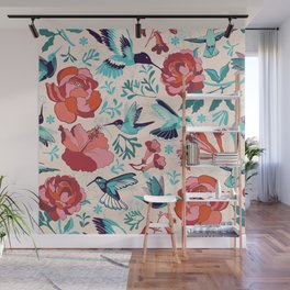 Hummingbird summerdance Wall Mural