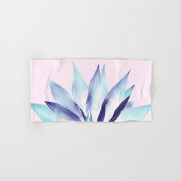 Solar Agave - Pastel blue on pink Hand & Bath Towel