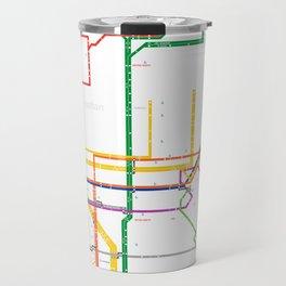 New York City subway map Travel Mug