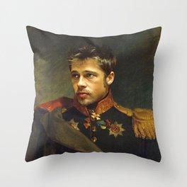 Brad Pitt - replaceface Throw Pillow