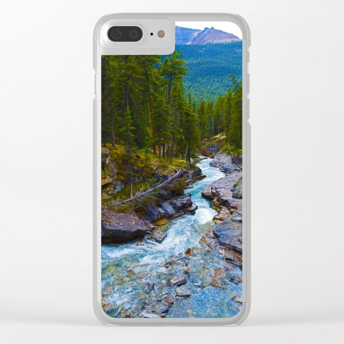 Beauty Creek in Jasper National Park, Canada Clear iPhone Case