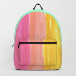 rainbow stripes pastel in the spring Backpack