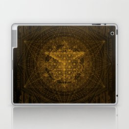 Dark Matter - Gold - By Aeonic Art Laptop & iPad Skin