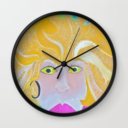 Curly Girl Wall Clock