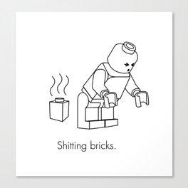 LEGO Shitting Bricks Canvas Print