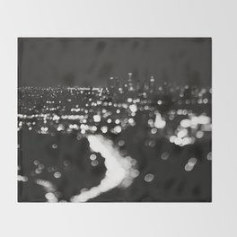 Los Angeles cityscape. L.A. Noir Throw Blanket