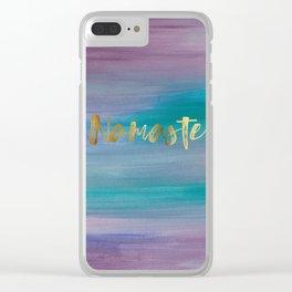 Namaste, Ocean Mermaid 1 Clear iPhone Case