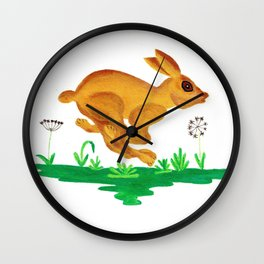 See Rabbit Run Wall Clock